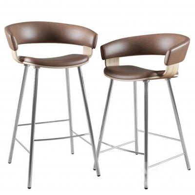 現代皮革吧椅吧凳3D模型【ID:328440122】