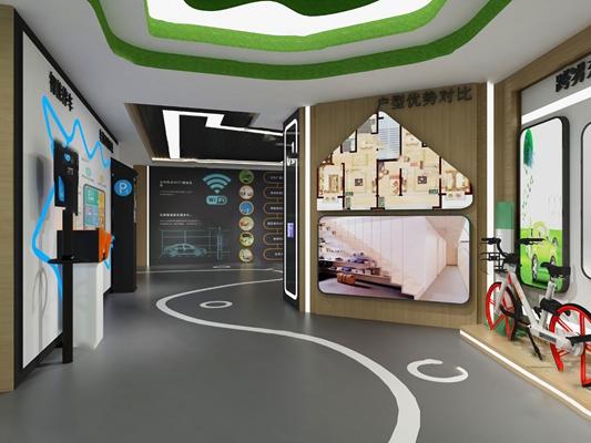 现代展厅3D模型【ID:724889695】