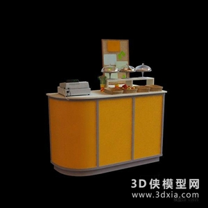 收银前台国外3D模型【ID:229847338】