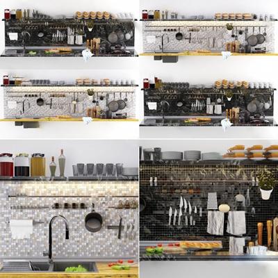 现代厨具3D模型【ID:724890512】
