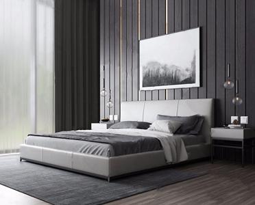 现代床具组合3D模型【ID:720793058】