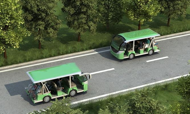 现代观光车3D模型【ID:124897274】