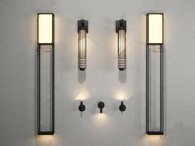 新中式鐵藝壁燈3D模型【ID:520824902】