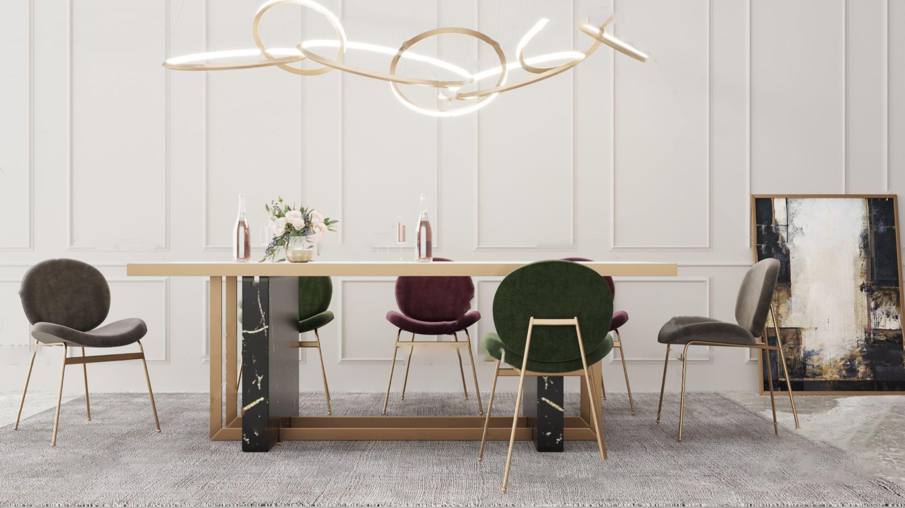 北�W餐形成一��包��圈桌椅3D模型【ID:842180852】