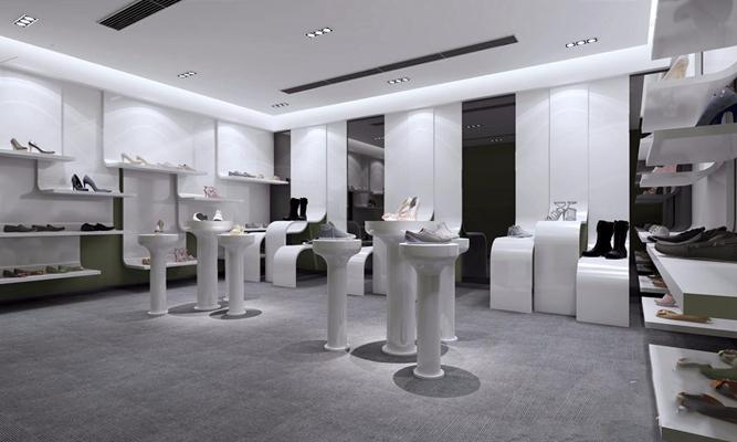 现代鞋店3D模型【ID:728090769】