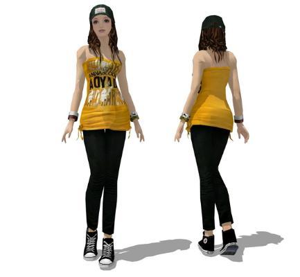 3D女人物SU模型【ID:145619784】