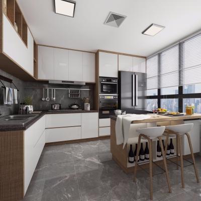 北欧厨房吧台3D模型【ID:127773430】