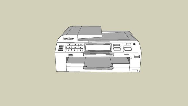 兄弟打印机SU模型【ID:939896852】