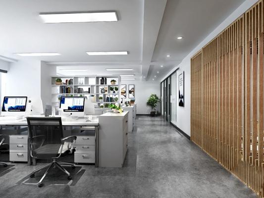 办公室3D模型【ID:920609620】