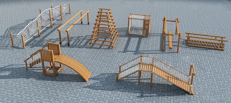 平衡木3D模型【ID:720602540】