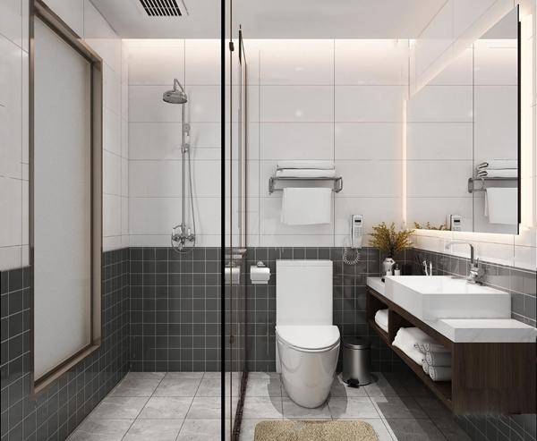 現代衛生間浴室3D模型【ID:547088510】