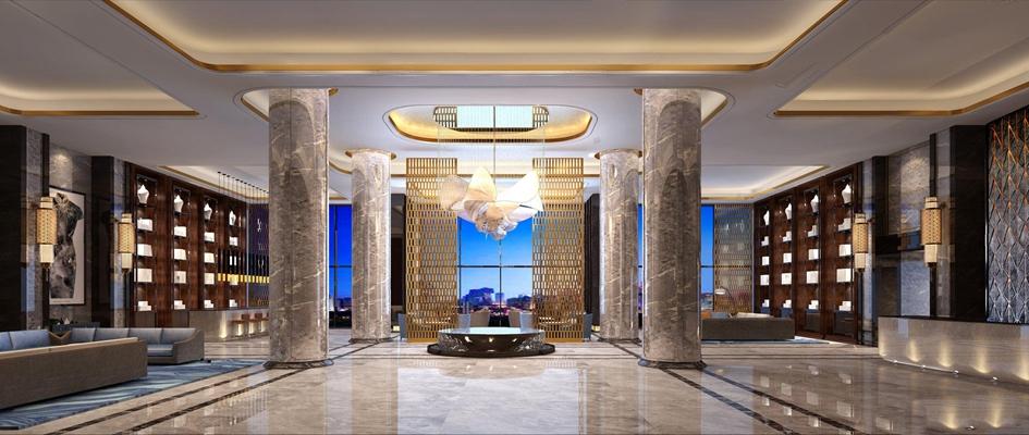 酒店大堂3D模型【ID:427962227】