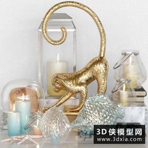 装饰品组合国外3D模型【ID:929306858】