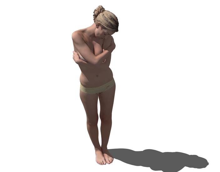 3D女人物SU模型【ID:136406709】