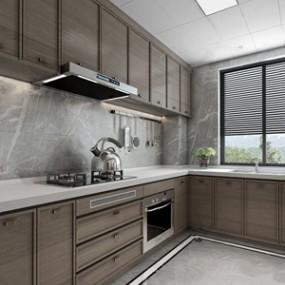 现代厨房 3D模型【ID:541630331】