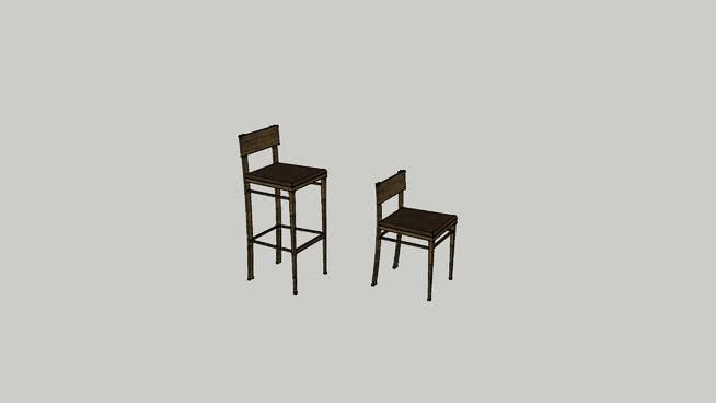 吧台椅SU模型【ID:438186742】