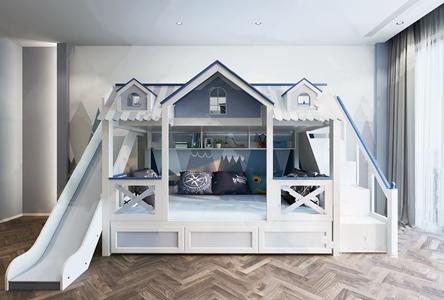 北欧儿童床3D模型【ID:836239824】