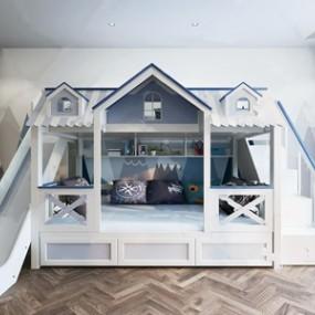 北欧儿童床 3D模型【ID:841473800】