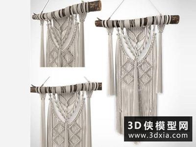 編織裝飾品墻壁掛件國外3D模型【ID:929346880】
