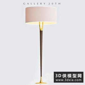 現代落地燈国外3D模型【ID:829323902】