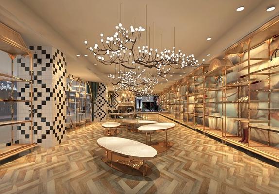 现代鞋店3D模型【ID:924893587】