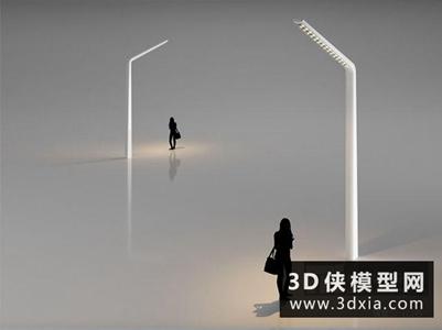 路灯国外3D模型【ID:929817276】