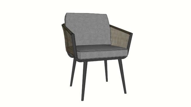 現代藤椅SU模型【ID:538191441】