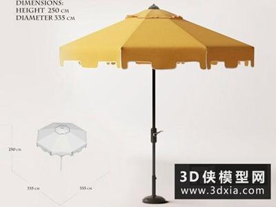 太陽傘國外3D模型【ID:329450358】