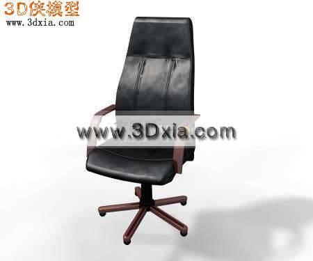 3D精细的办公椅模型下载3D模型【ID:7403】