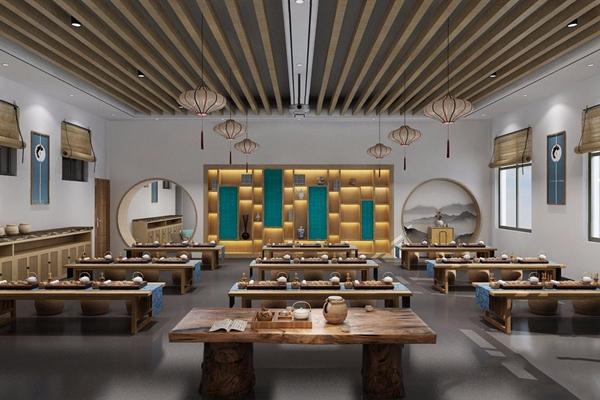 新中式茶藝室3D模型【ID:528030856】