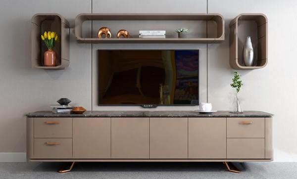 現代電視柜3D模型【ID:946260924】