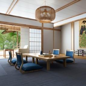 日式茶室3D模型【ID:328438493】