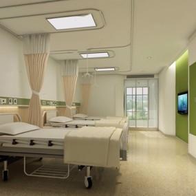 三人病房3D模型【ID:928177648】