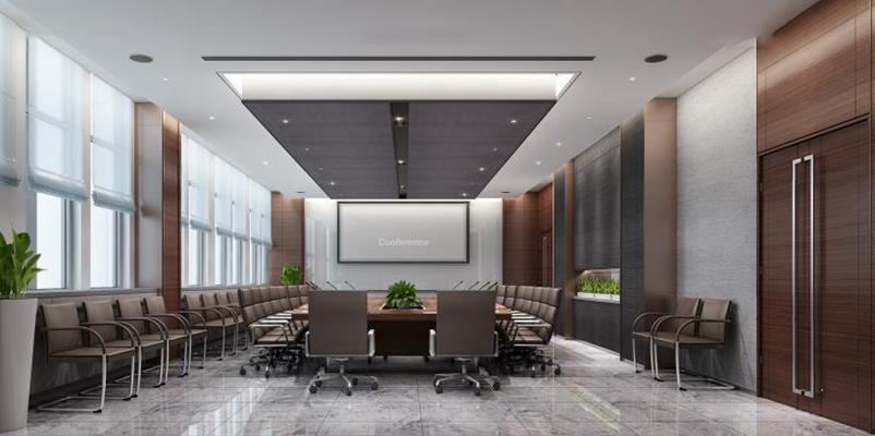 现代会议室3D模型【ID:728069835】