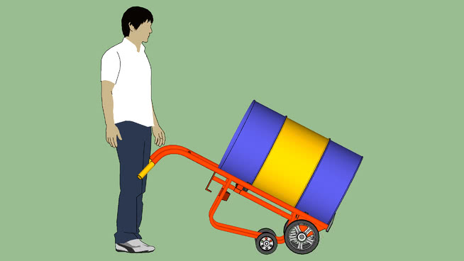 工业系列.设备.容器.滚筒.韦斯科分配滚筒车.运输模式SU模型【ID:939904589】