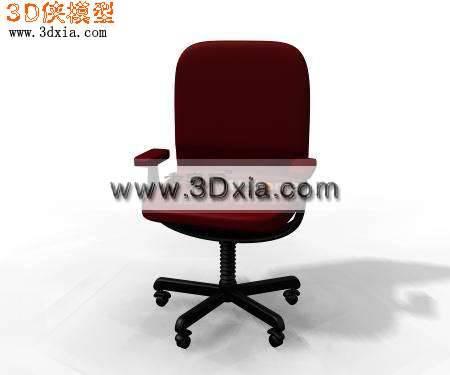 精细的办公椅3D模型【ID:7474】