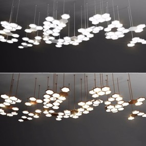 现代吊灯3D模型【ID:528285855】