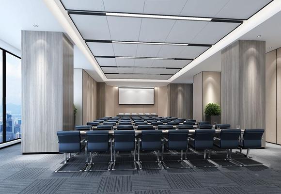 现代大会议室3D模型【ID:728091853】