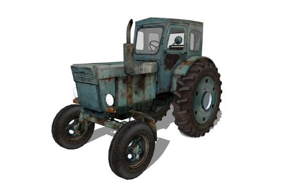 拖拉機SU模型【ID:847335138】