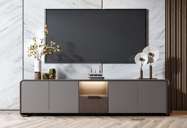 現代實木電視柜3D模型【ID:947289944】