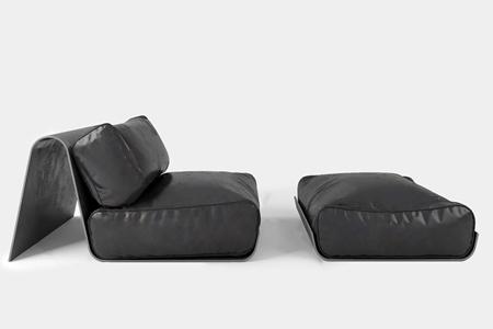 现代懒人皮革沙发3D模型【ID:634269995】
