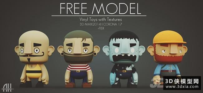 玩具木质小人国外3D模型【ID:929330888】