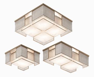 新中式吸顶灯组合3D模型【ID:832415083】