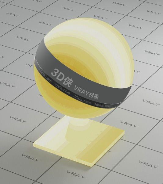 黄色灯罩Vray材质【ID:736458430】