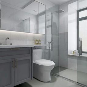 现代卫浴用品3D模型【ID:127863724】