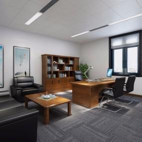 现代办公室3D模型【ID:728088649】