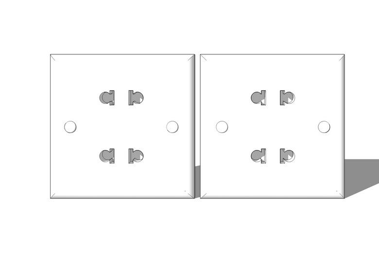 插座面板SU模型【ID:136410935】