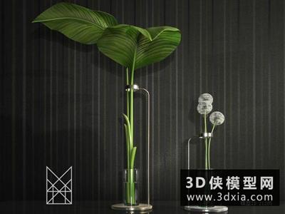 現代裝飾品國外3D模型【ID:929474856】