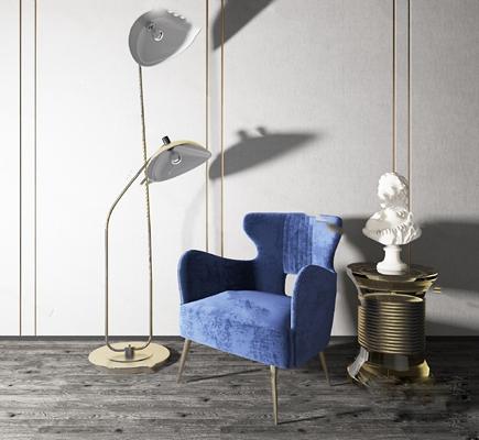 现代沙发椅3D模型【ID:924897662】