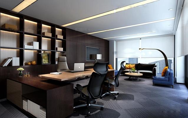 现代总经理办公室3D模型【ID:76876757】